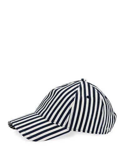 Marilyn Striped Baseball Cap