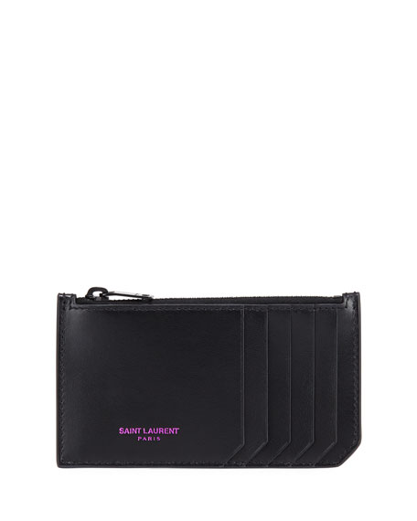 MARQUAGE COLORE ZIPPED FRAGMENTS CARD CASE