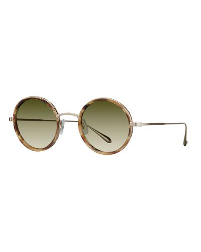 Playa Round Mirrored Sunglasses