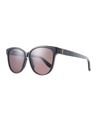 Mirrored Cat-Eye Acetate Sunglasses