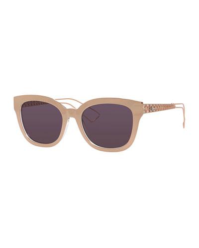 Diorama Caged Mirrored Sunglasses