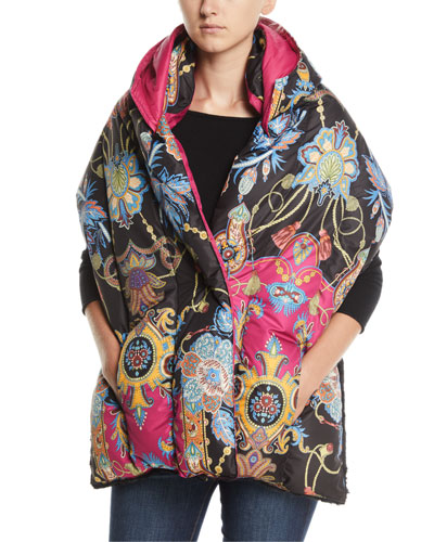 Paisley Hooded Puffer Scarf