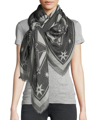 Iconic Flash Wool-Silk Scarf