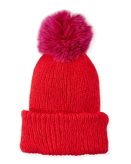 ce4d1a09f8d Eugenia Kim Maddox Beanie Hat w  Fur Pompom