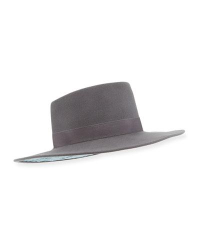 Harlowe Wool Panama Hat