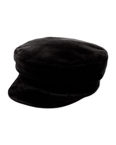 Mattie Velvet Newsboy Hat