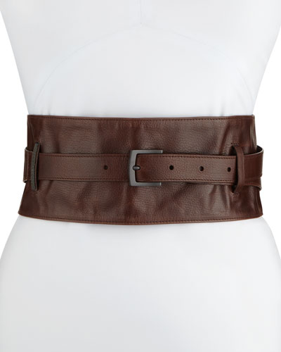 Retro Leather Corset Belt