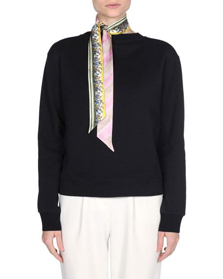 Silk Floral & Stripe Scarf by Fendi