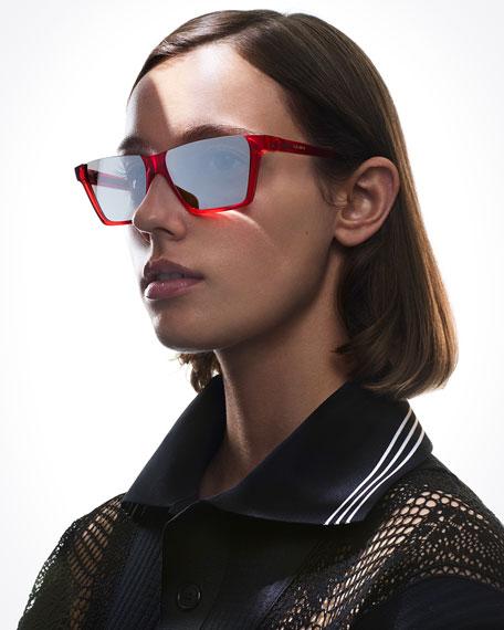 3334b212afa Celine Semi-Rimless Rectangular Mirrored Sunglasses