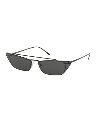 Slim Cat-Eye Metal Sunglasses