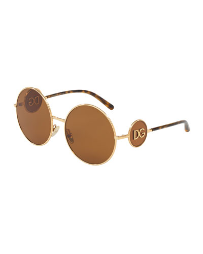 Round Metal DG Sunglasses