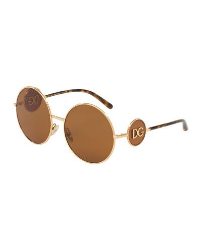 Round Metal DG Sunglasses