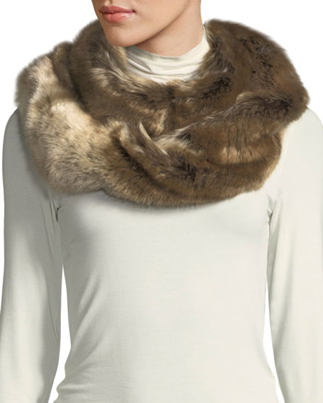 Fabulous Furs Oversized Eternity Faux-Fur Scarf