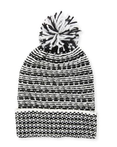 Patchwork Jacquard Beanie Hat
