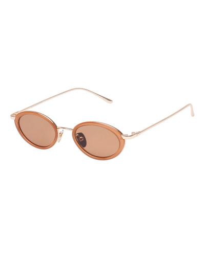 64594620f6 Boom Slim Oval Metal   Plastic Sunglasses Quick Look. Le Specs Luxe