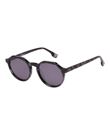 LE SPECS Bang Acetate Monochromatic Sunglasses in Charcoal
