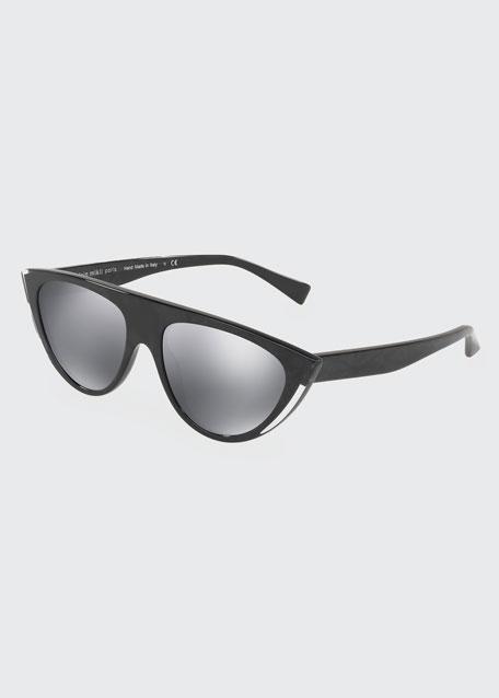 Alain Mikli Miss J Mirrored Cat-Eye Sunglasses