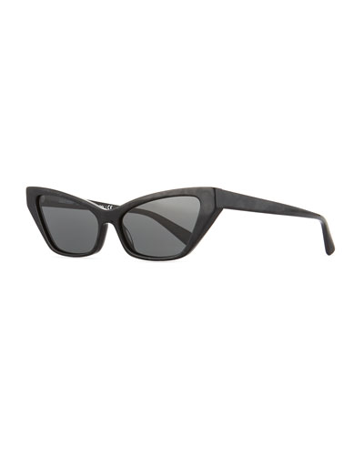 Le Matin Acetate Cutoff Cat-Eye Sunglasses