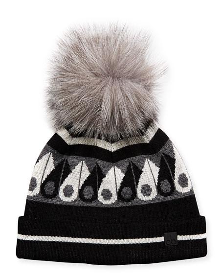 Moose Knuckles Moose Canuk Beanie Hat w/ Fur