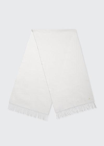 Cashmere Sciarpa Grande Fringe-Trim Scarf