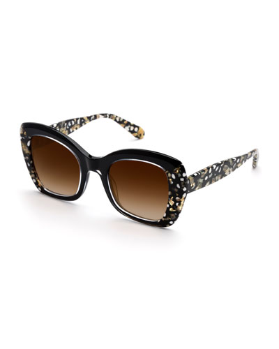 Felicity Acetate Two-Tone Butterfly Sunglasses
