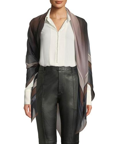 Striped Degrade Silk Shawl