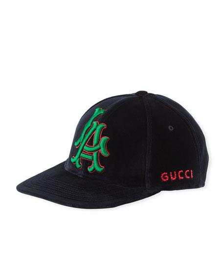 Gucci LA Angeles MLB Velvet Baseball Hat