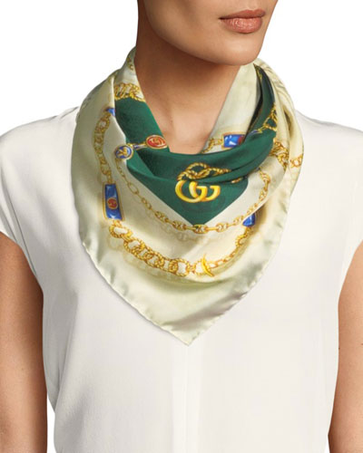 GG Jewels Silk Scarf