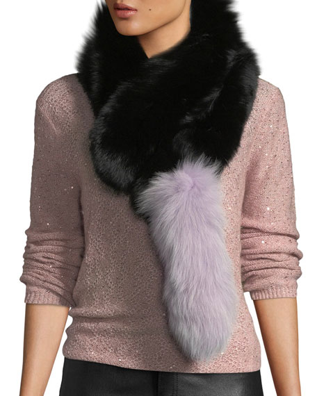 Charlotte Simone Popsicle Fur Pull-Through Scarf