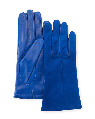 Tech Suede & Napa Leather Short Gloves