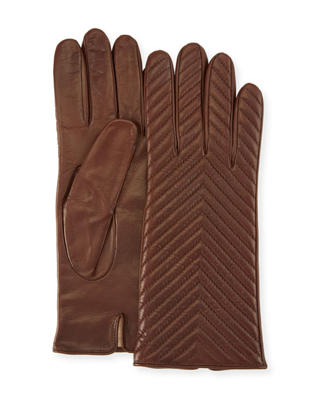 Portolano QUILTED NAPA LEATHER GLOVES