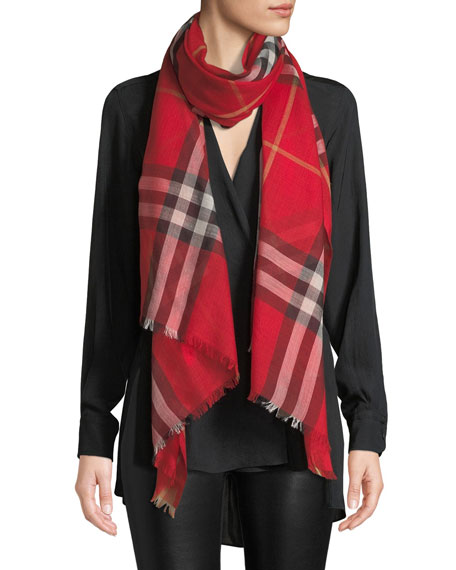 a362bb11a79d2 Burberry Gauze Giant Check Scarf