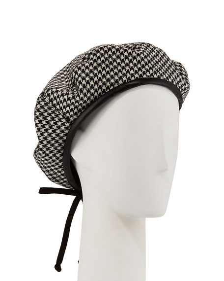 Eric Javits Kate Wool Houndstooth Beret a34324d7791