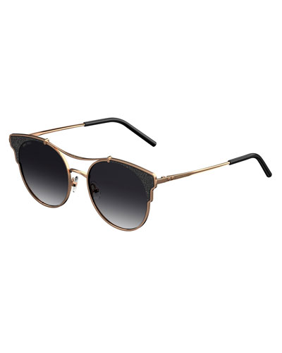 Lues Round Metal Sunglasses