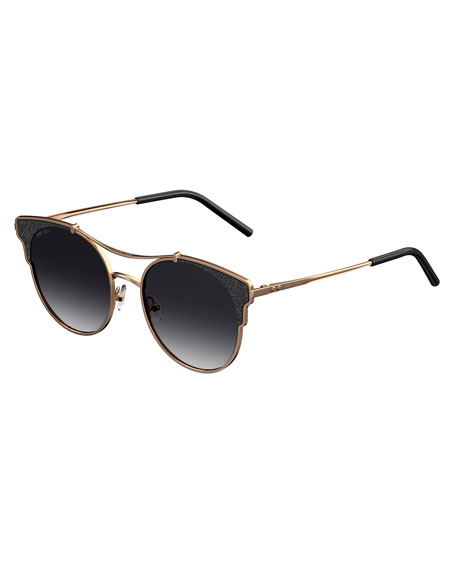 Lues Round Metal Sunglasses by Jimmy Choo