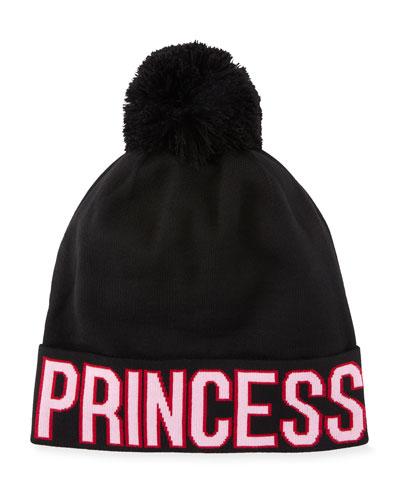 Princess D&G Knit Pompom Beanie Hat