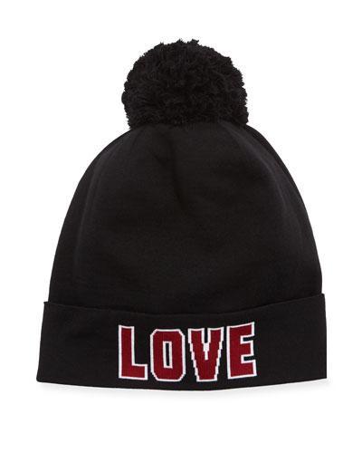 Love D&G Knit Pompom Beanie Hat