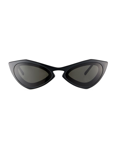 Angular Acetate Cat-Eye Sunglasses