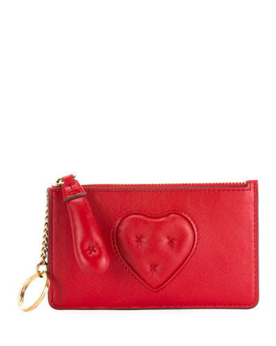 Chubby Heart Zip-Around Wallet