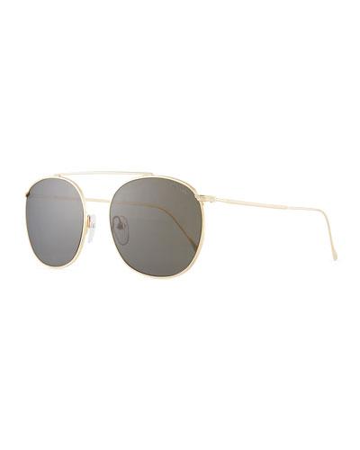 Mykonos II Steel Aviator Sunglasses