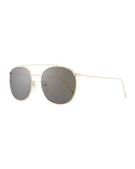 Illesteva Mykonos II Steel Aviator Sunglasses