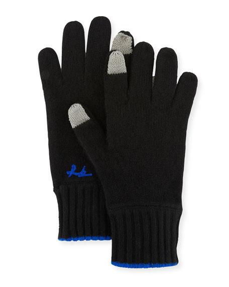 Yorke Cashmere Gloves, Black