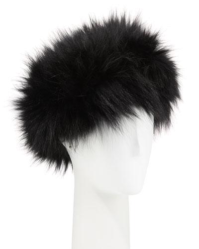 Fox Fur Ear Warmer Headband