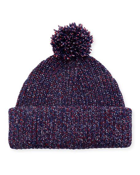 Cheryl Speckled Pompom Beanie Hat