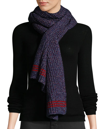 Cheryl Speckled Wool Rectangle Scarf