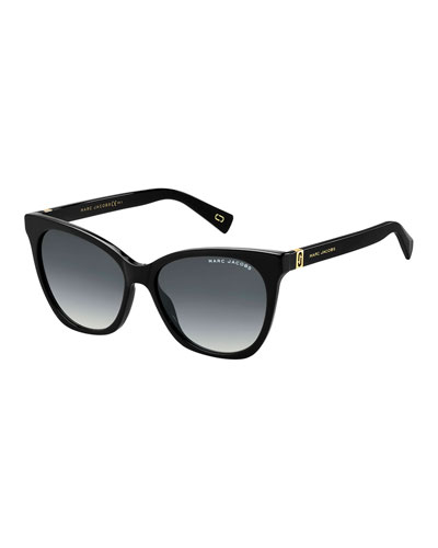 Acetate Rectangle Gradient Sunglasses