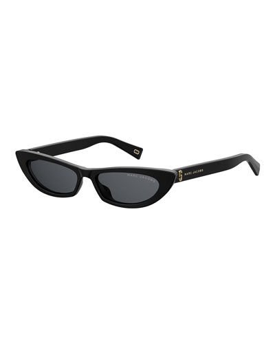 Slim Cat-Eye Acetate Sunglasses