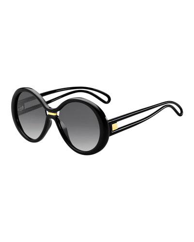 Round Cutout Gradient Sunglasses
