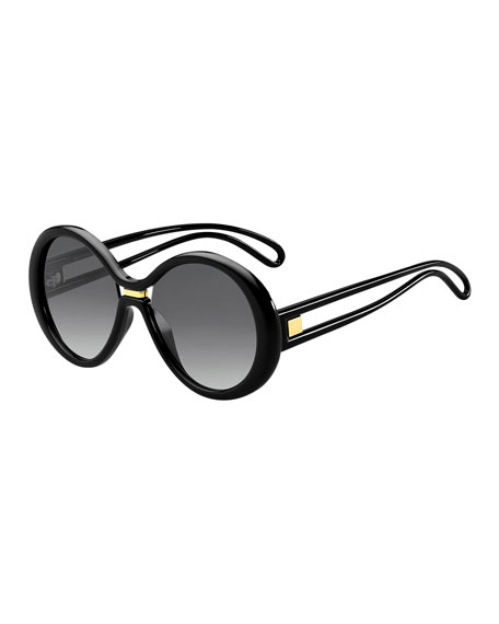 Givenchy Round Cutout Gradient Sunglasses