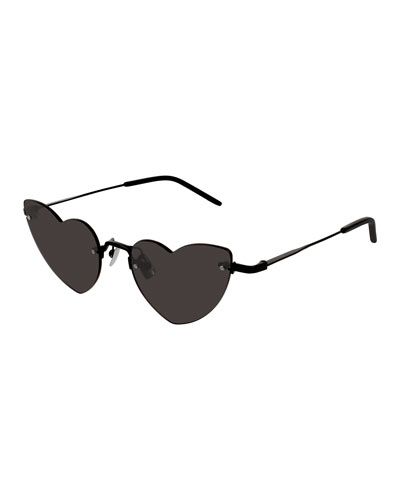 Loulou Rimless Heart Sunglasses